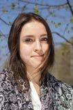 Piękna dziewczyna w chustka na głowę Obraz Stock