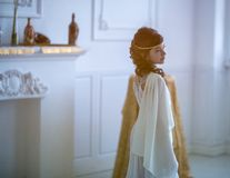 Piękna dziewczyna w grek sukni fotografia stock