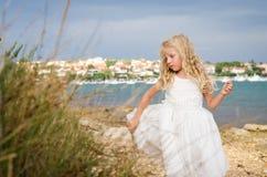 Piękna dziewczyna w nadmorski Obraz Royalty Free
