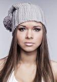 Piękna dziewczyna w nakrętce Fotografia Stock