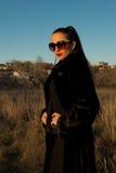 Piękna dziewczyna w okularach przeciwsłonecznych Fotografia Stock