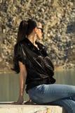Piękna dziewczyna w okularach przeciwsłonecznych Zdjęcie Stock