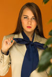 Piękna dziewczyna w pięknym mieście Fotografia Royalty Free