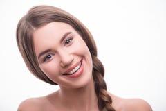 Piękna dziewczyna wyraża różne emocje Zdjęcia Stock