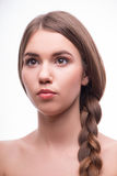 Piękna dziewczyna wyraża różne emocje Zdjęcie Stock