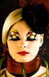 Piękna dziewczyna z artystycznym makijażem Obraz Stock