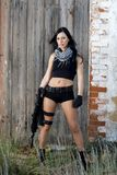 Piękna dziewczyna z bronią Fotografia Stock