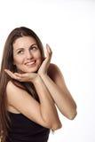 Piękna dziewczyna z dużym uśmiechem Zdjęcia Royalty Free