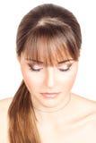 Piękna dziewczyna z oczami zamykającymi Zdjęcia Royalty Free