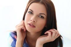 Piękna dziewczyna z wspaniałą twarzą obraz royalty free