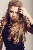 Długi Falisty włosy Fotografia Royalty Free