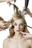 piękna dziewczyny lewy spojrzeń salon Obraz Stock