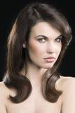 piękna dziewczyny włosy elegancki zdjęcie royalty free