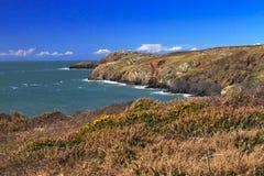Piękna dzika i niewygładzona Pembrokeshire linia brzegowa Obrazy Royalty Free