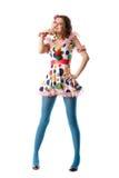 piękna dziwna zabawną dziewczyną obraz stock