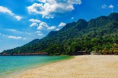 Piękna egzot plaża w Malezja Zdjęcie Stock