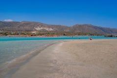 Piękna elafonisi plaża, Crete, Grecja Zdjęcia Stock