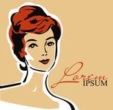 Piękna elegancka kobieta w retro stylu ilustracja wektor