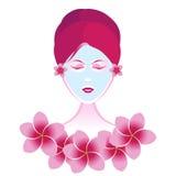piękna facial dziewczyna ilustracja wektor