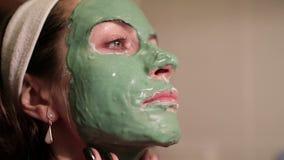 piękna facial maski kobieta E zdjęcie wideo