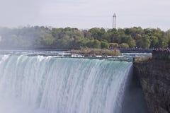 Piękna fotografia zadziwiający Niagara spada kanadyjczyk strona zdjęcie royalty free