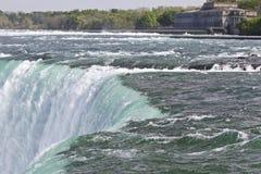 Piękna fotografia zadziwiający Niagara spada kanadyjczyk strona zdjęcia royalty free