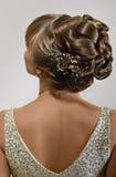 piękna fryzura ślub Obraz Stock