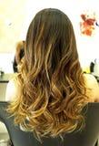 piękna fryzura ślub Obrazy Royalty Free