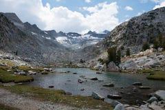 Piękna góra Lyell w Yosemite parku narodowym John Muir ślad Obraz Stock