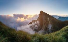 Piękna góra przy wschodem słońca w Zachodnim Ghats Obraz Royalty Free