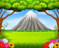 Piękna góra w lesie royalty ilustracja