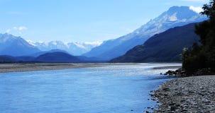 Piękna góry i morza scena Nowa Zelandia 4K