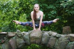 Piękna gimnastyczka obraz stock
