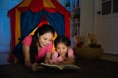 Piękna gospodyni domowa i ładni słodcy dzieci fotografia stock