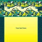 Piękna granica w zawiły sposób botaniczni fantazja kształty royalty ilustracja