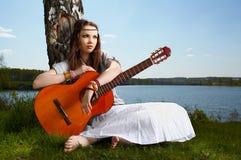 Piękna hipis dziewczyna zdjęcia royalty free