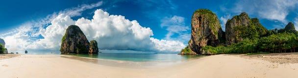 Piękna horyzontalna panorama Tajlandia plaża zdjęcie royalty free