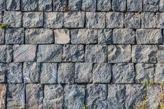 Piękna horyzontalna tekstura część stara szara ściana z cegieł od zamarzniętej powulkanicznej lawy od Etna wulkanu w Sicily w Wło obrazy stock