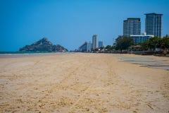 Piękna Hua Hin plaża Tajlandia Zdjęcia Royalty Free