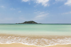 Piękna Hyeopjae plaża w Jeju wyspie Fotografia Stock