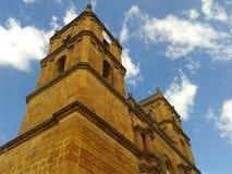 Piękna i sławna katedra Niepokalany poczęcie w Kolumbijskim miasteczku fotografia royalty free