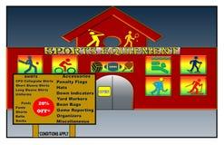 Piękna ilustracja sporta wyposażenia sklep ilustracja wektor
