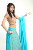 piękna indyjska tradycyjna kobieta fotografia stock
