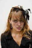 Piękna, Intensywna młoda kobieta, Zdjęcia Stock