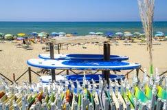 Piękna itlaian plaża Zdjęcia Stock
