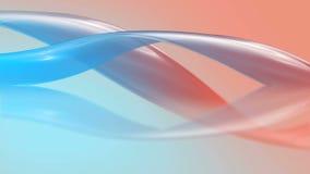 Piękna jedwab krzywa waggle w powietrzu ilustracji