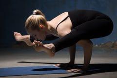 Piękna joga kobiety pozycja w świetlik posturze Zdjęcie Royalty Free