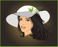 piękna kapeluszowa kobieta Zdjęcie Royalty Free