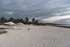 Piękna karaibska piasek plaża blisko ruin Tulum, Mexico Obraz Royalty Free