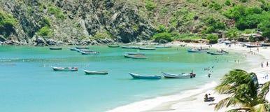 Piękna karaibska sceneria obrazy royalty free
